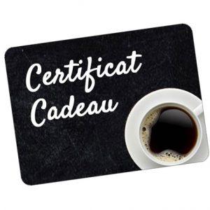 Café Certificat cadeau